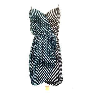 SALE | BEBOP TWO-TONED POLKA DOT DRESS